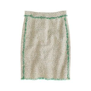 J. Crew Skirt Cream Glitter tweed Mini Skirt 6